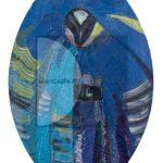 Antonello Cuccu, Issa, 2000, olio su MDF, 44x30cm