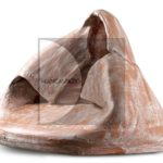 Emilia-Palomba,-figura-femminile,-2006,-terracotta-patinata-a-ingobbio,-20x27x22cm