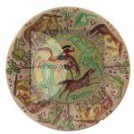 """Simeone Lai (su disegno di Salvatore Fancello), Cavalli (seconda metà anni Trenta), terracotta da stampo incisa e dipinta """"a freddo"""" con vernici sintetiche, Ø 31 cm."""