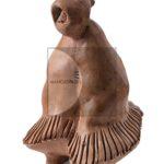 Salvatore-Fois,-Figura-femminile,-terracotta-patinata-a-caldo,-anni-Settanta,-18x12x12,5cm