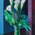 Bachis, White Calla lily, Acrilico su carta, 2018, 42x30cm